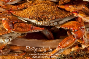 Food Photography Cooked Blue Crab with Old Bay Seasoning