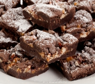 Brownies with Powdered Sugar