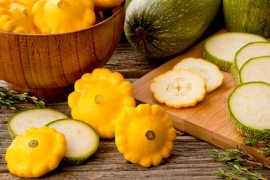 Pattypan Yellow Squash and Zucchini