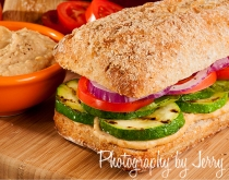 veggie and humus sandwich